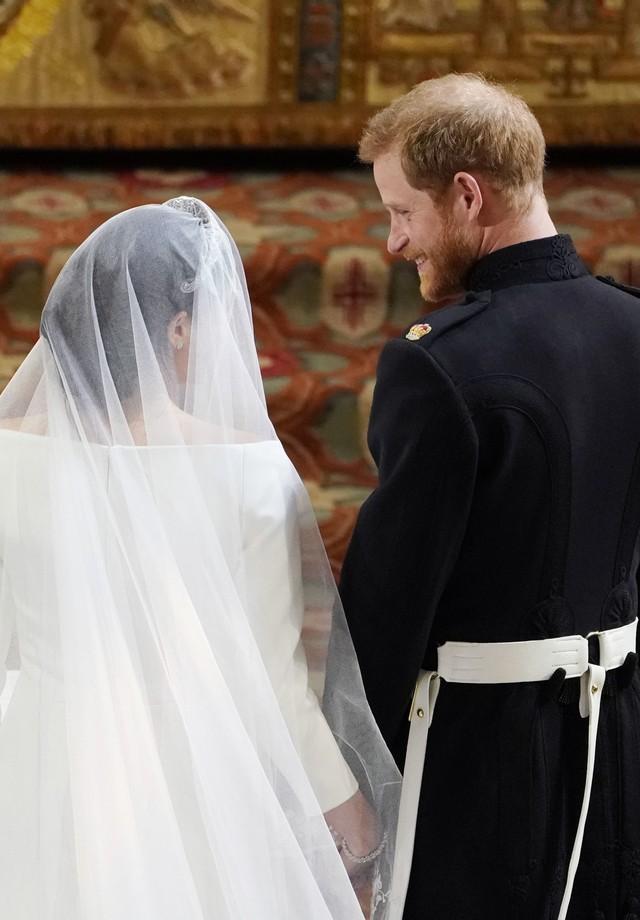 Meghan Markle e Harry brilham em casamento real  (Foto: Getty)