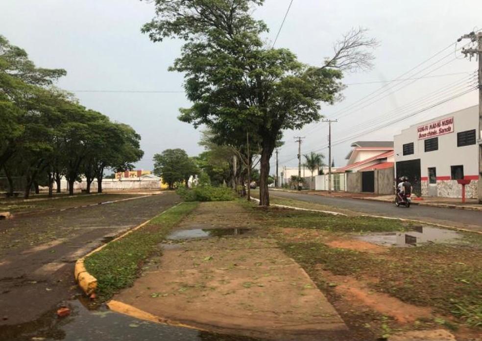 Vilhena, RO, após forte temporal — Foto: Reprodução/Redes Sociais