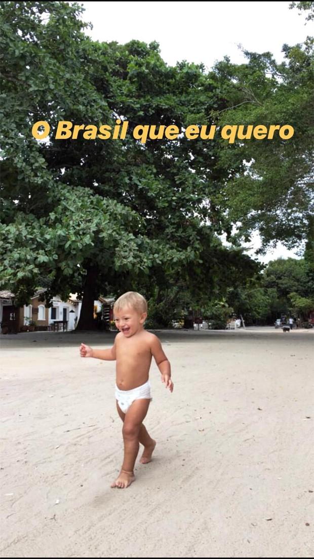 Anacã, filho de Candice Swanepoel (Foto: Reprodução / Instagram)