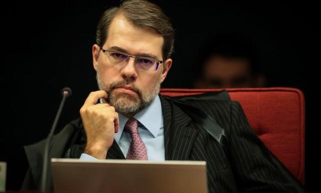 Ministro Dias Toffoli na sessão da 1ª Turma