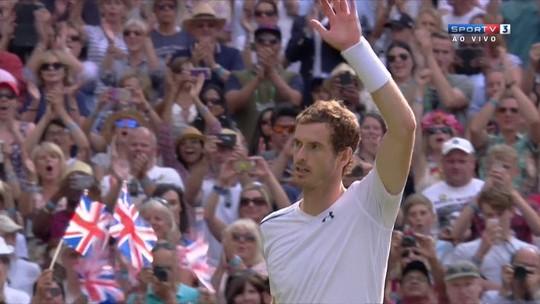 Murray bate francês e atinge quartas em Wimbledon pela 10ª vez na carreira