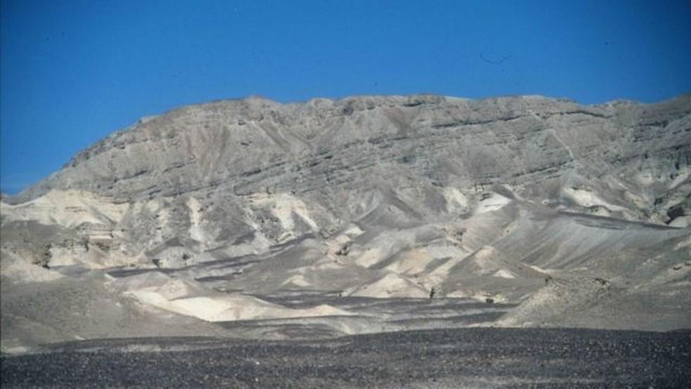 Um exemplo terrestre, na Península do Sinai, de uma paisagem semelhante à de Jezero — Foto: Sanjeev Gupta/via BBC