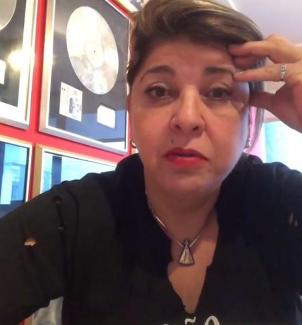 Roberta Miranda furiosa com o fã (Foto: Reprodução/Instagram)