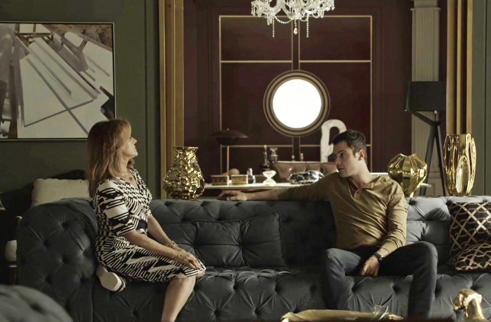 Sophia tente convencer o filho de novo plano contra Clara Foto TV Globo