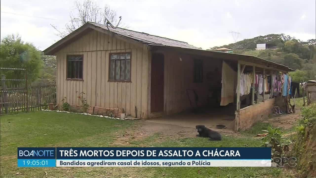 Três mortos em assalto a uma chácara