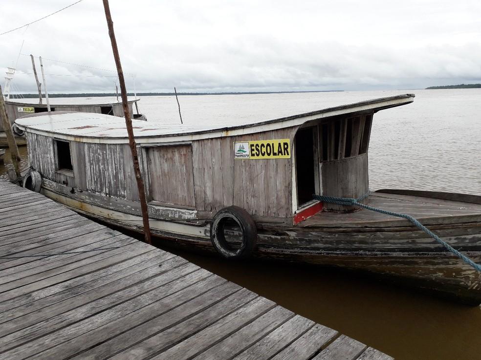 Em Melgaço (PA), transporte escolar é feito por 230 barcos. — Foto: Divulgação/Secretaria Municipal de Educação