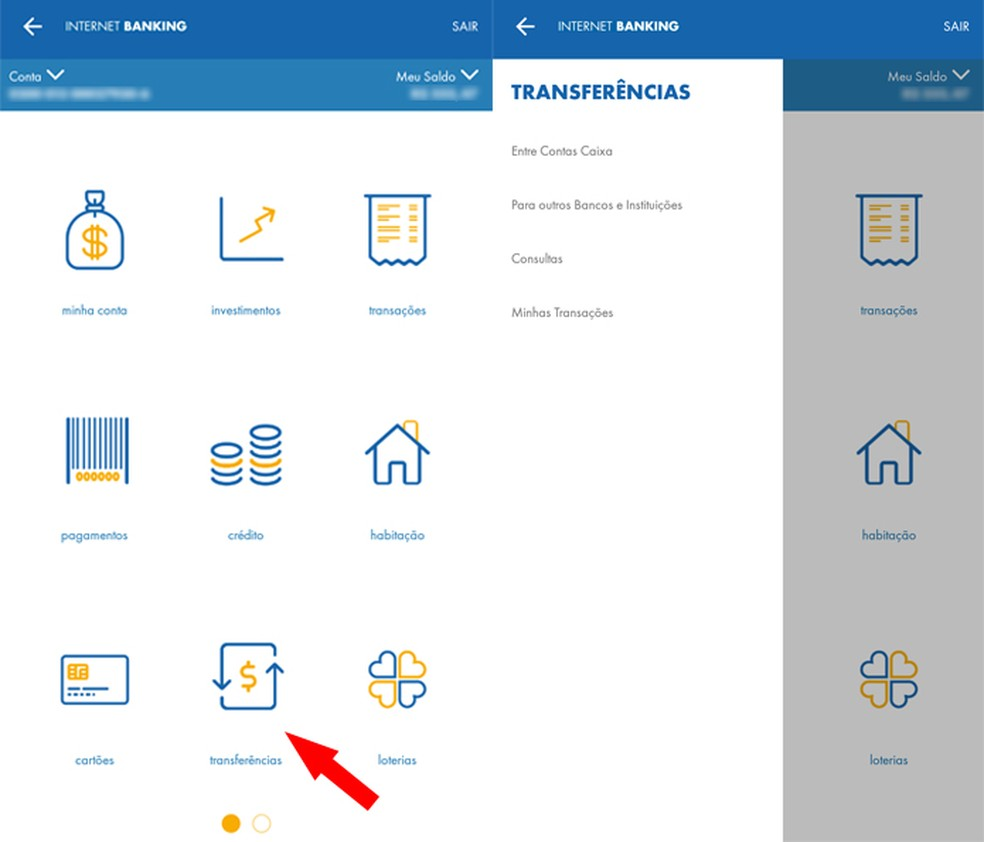 transferencias Como usar o aplicativo da Caixa