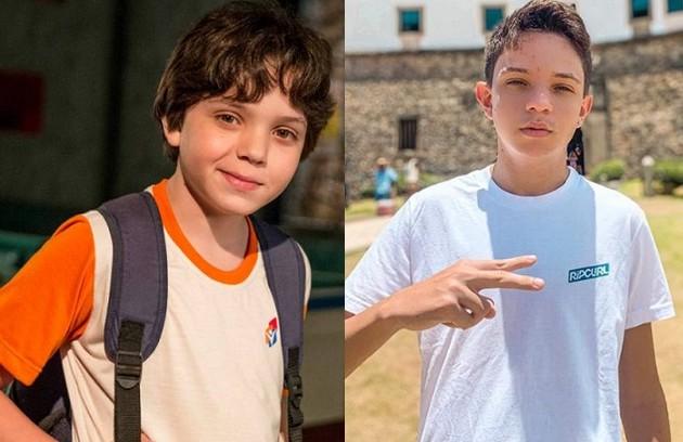 Kaik Brum foi Carlinhos, irmão de Eliza (Marina Ruy Barbosa). Hoje, aos 15 anos, ele ainda é ator e trabalhou nos seriados 'D.P.A' e 'A cara do pai' e no filme 'Fala sério, mãe' (Foto: TV Globo / Reprodução)
