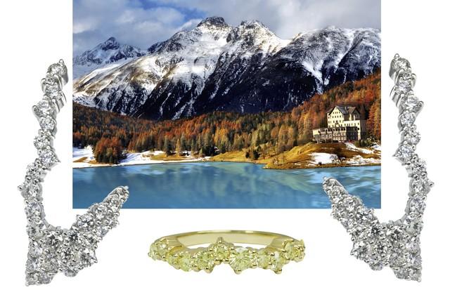 Joias da coleção Hills da L. Salem, inspirada em St. Moritz (Foto: Imaxtree/Divulgação)