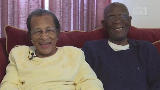 Casal de centenários nos EUA celebra 82 anos de casados