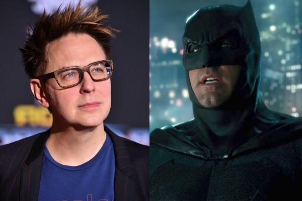 James Gunn e Batman, interpretado por Ben Affleck (Foto: Getty Images/Reprodução)