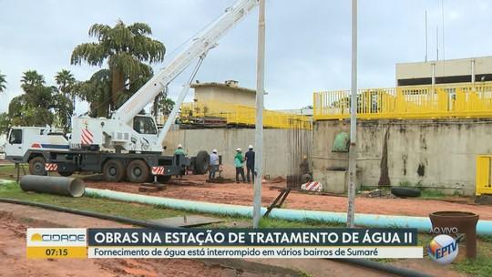Obras interrompem fornecimento de água em 97 bairros de Sumaré nesta terça; confira relação