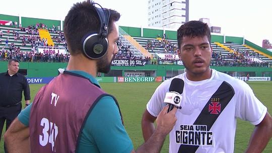 Evander reconhece erro em gol perdido e diz que Vasco entrou meio sonolento na partida