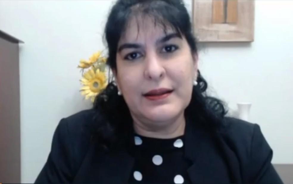 Farmacêutica Vilma Barreira foi a primeira pessoa confirmada de Covid-19 em Araraquara — Foto: Reprodução/EPTV