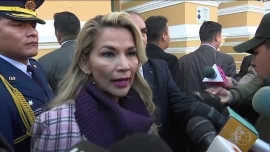 Presidente interina da Bolívia apresenta projeto para eleição