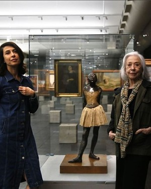 Fernanda Torres e Fernanda Montenegro no MASP: mãe e filha viverão Lina Bo Bardi em filme sobre a arquiteta (Foto: Reprodução / Instagram)