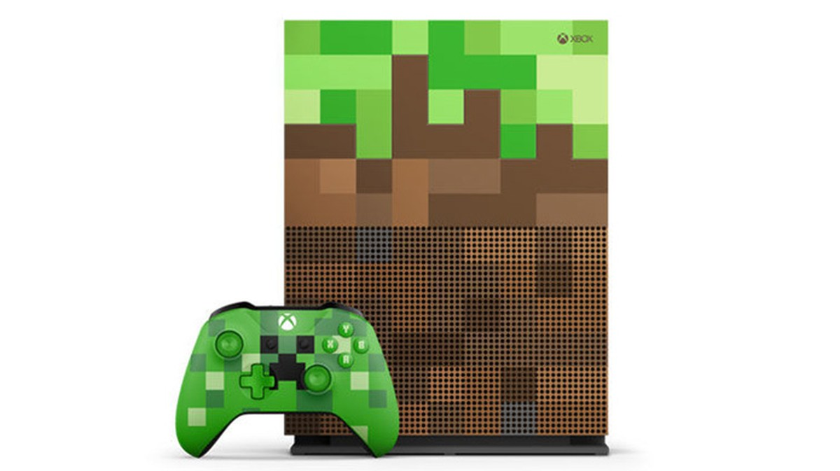 Xbox One ganha modelo temático de Minecraft com controle Creeper