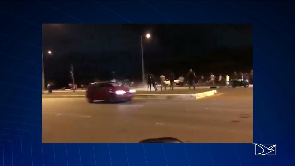 Acidente é registrado na Via Expressa em São Luís (Foto: Reprodução/TV Mirante)
