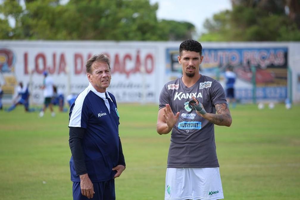 Waldemar Lemos e Manoel Altos — Foto: Luís Júnior/Altos