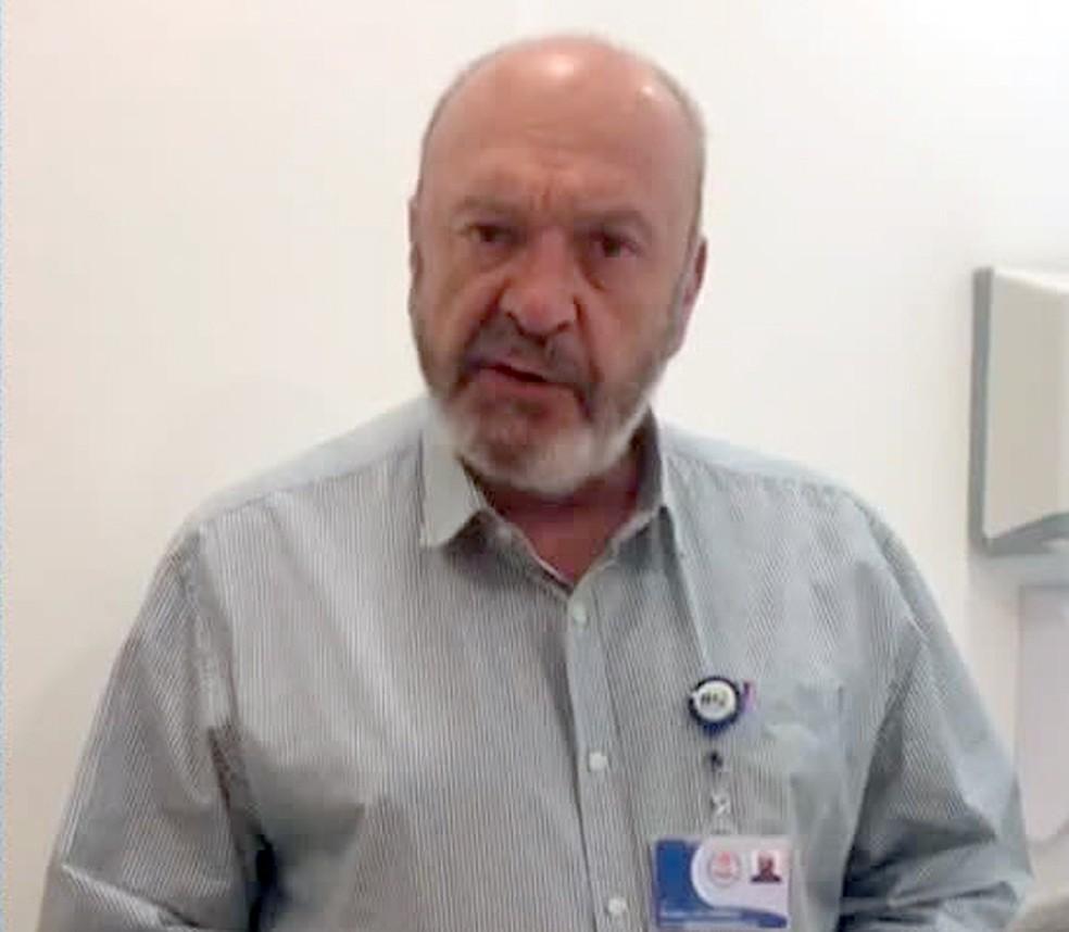 Ronaldo Damião, diretor do Hospital Pedro Ernesto — Foto: Reprodução/TV Globo