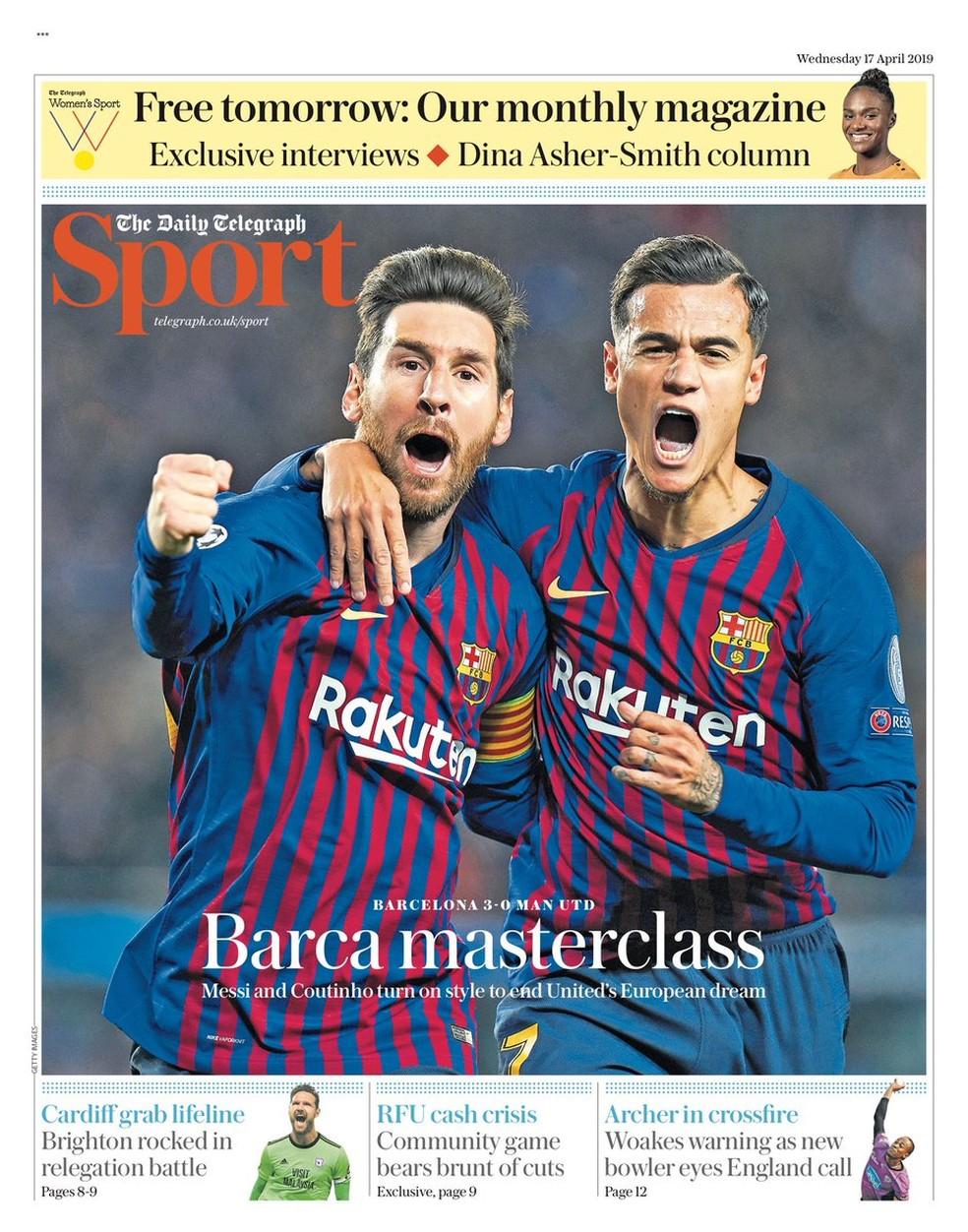 Manchete do Daily Star após Juventus x Ajax — Foto: Reprodução / Twitter
