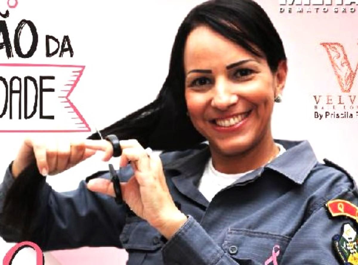 Mulheres da PM vão doar cabelos durante campanha de conscientização sobre o câncer em MT