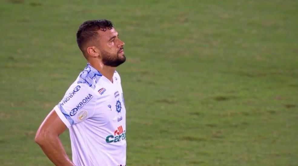 Luciano Castán marcou contra na derrota do CSA contra o Botafogo — Foto: Reprodução/Sportv