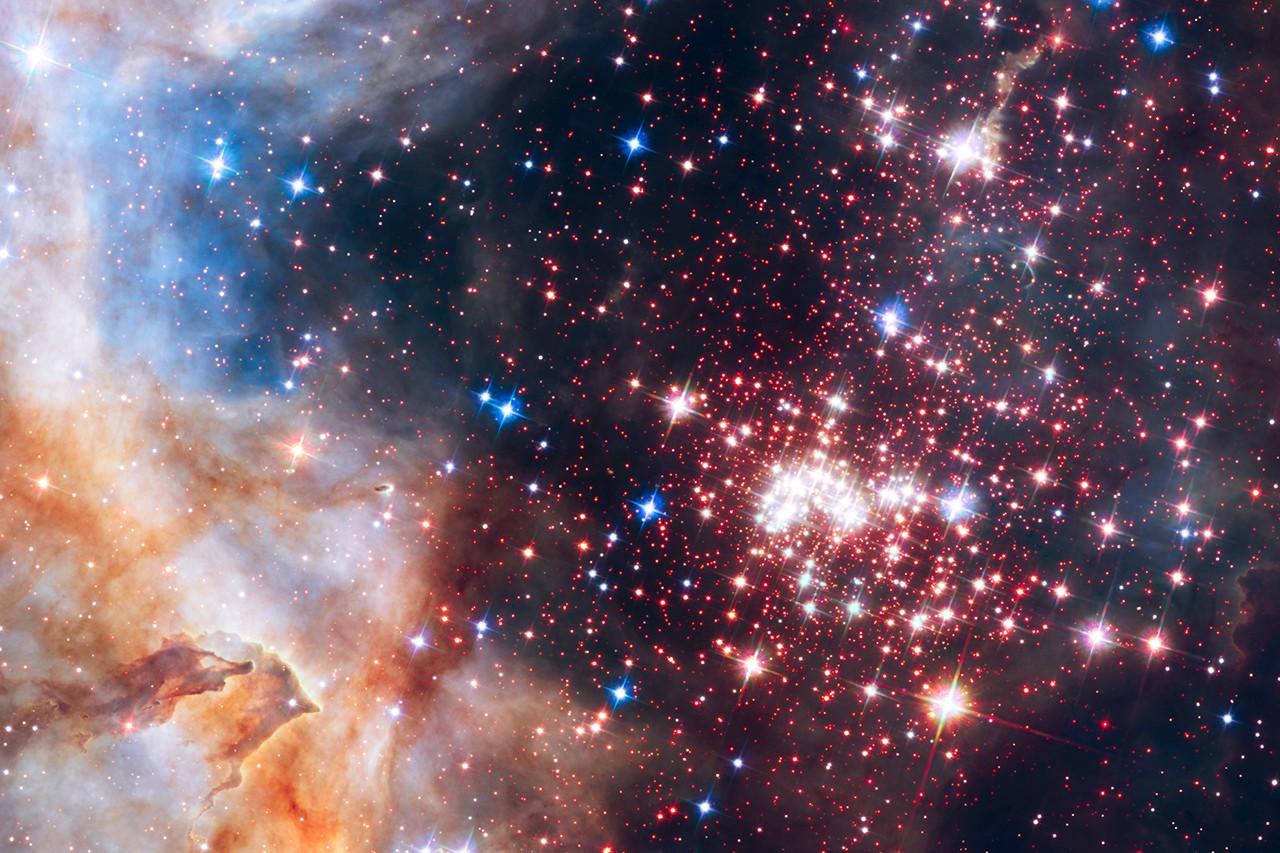 Alta concentração de estrelas no berçário do Sol favorecia o intercâmbio de objetos (Foto: NASA, ESA, Hubble Heritage Team (STScI/AURA), A. Nota (ESA/STScI), e Westerlund 2 Science Team)