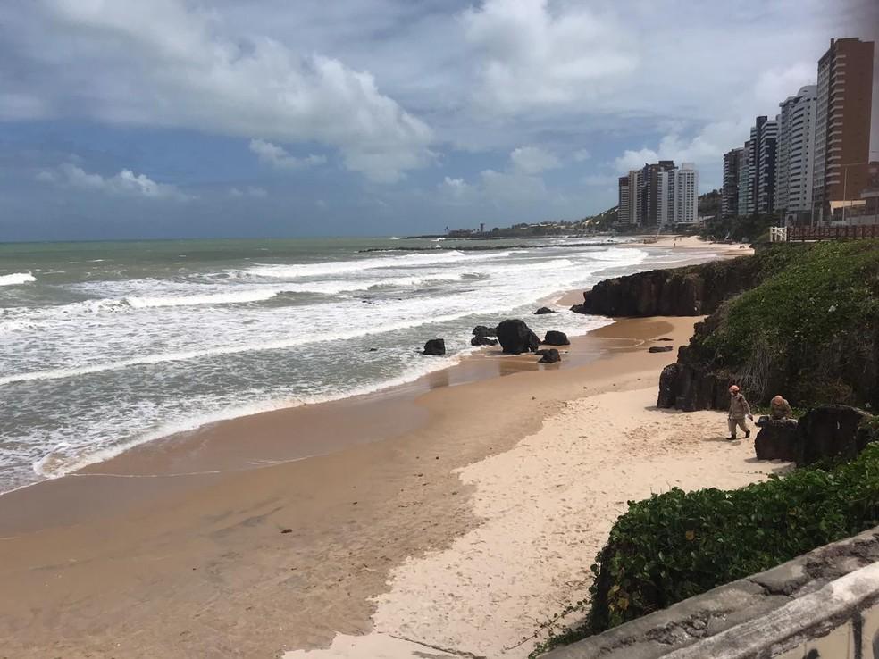 Praia de Areia Preta, em Natal. — Foto: Kleber Teixeira/Inter TV Cabugi