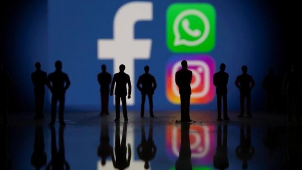 Os americanos sofreram muito mais com a interrupção do Facebook e do Instagram na pane da segunda-feira (4/10) do que do WhatsApp — Foto: Reuters