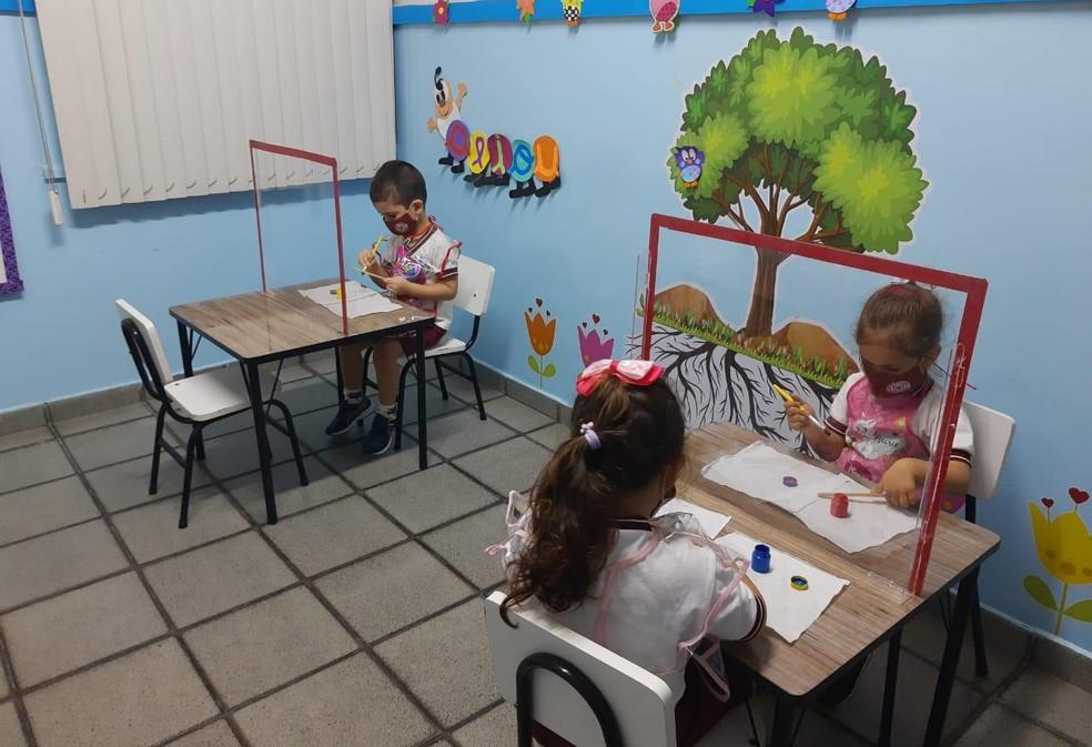 Escolas particulares de Manaus completam um mês de retorno de aulas presenciais. — Foto: Divulgação