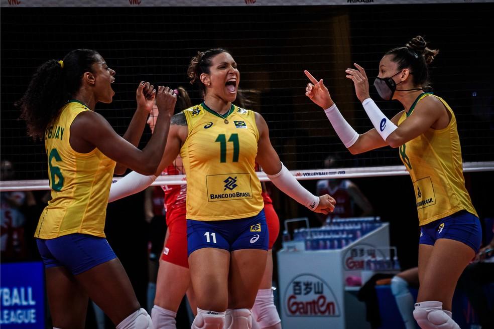 tandara Brasil vence Turquia e pega o Japão na semifinal da Liga das Nações