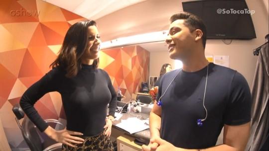 Camila Coutinho invade camarim de Wesley Safadão e Lucy Alves no 'SóTocaTop'