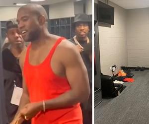 """Kanye West confirma que está morando em vestiário de estádio com foto de """"puxadinho"""""""