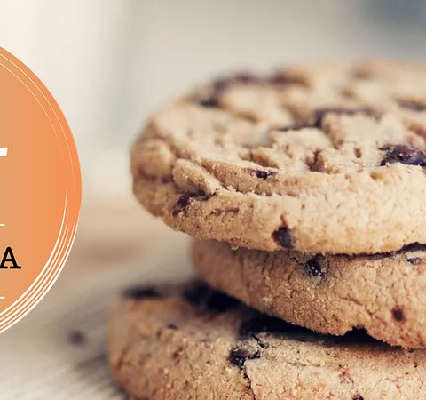 Cookie integral com chocolate vai bem na lancheira