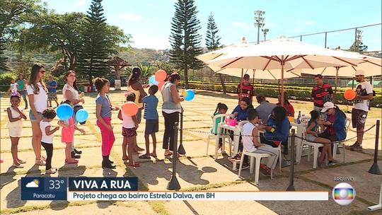 Brincadeiras vão divertir criançada no 'Viva a Rua' deste sábado (29), em BH