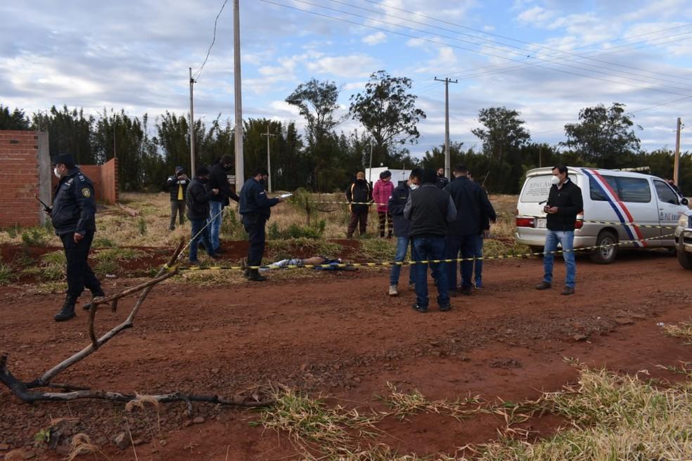 Local onde o corpo do jovem foi encontrado nesta quarta-feira (28). — Foto: Gilberto Diaz/Reprodução