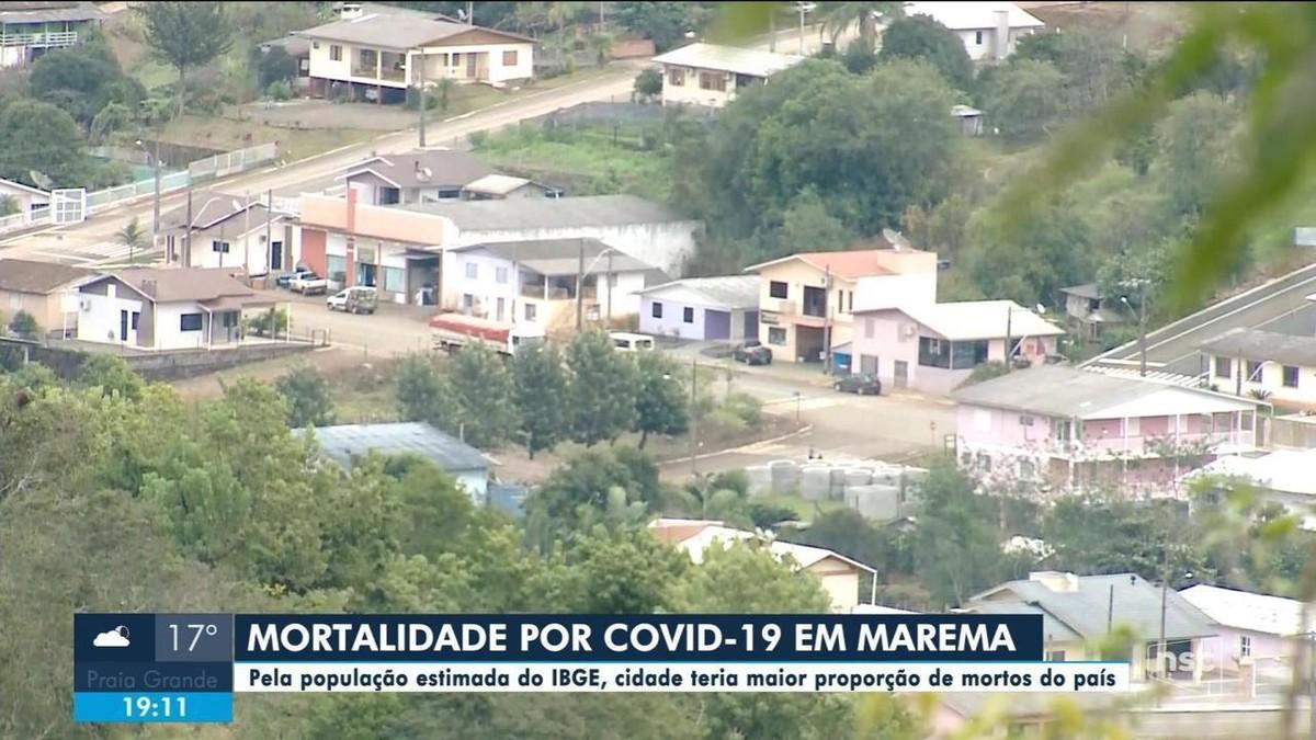 Pela população estimada do IBGE, Marema, no Oeste de SC, tem maior proporção de mortes por Covid no país, diz pesquisa da UFV