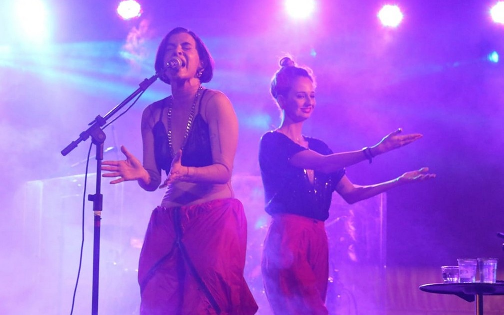 Marina Lima canta no palco da Praça da República, em SP — Foto: Fábio Tito/G1