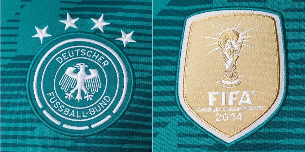Escudo da Alemanha e emblema da Fifa de campeão mundial de 2014 (Foto: Reprodução)