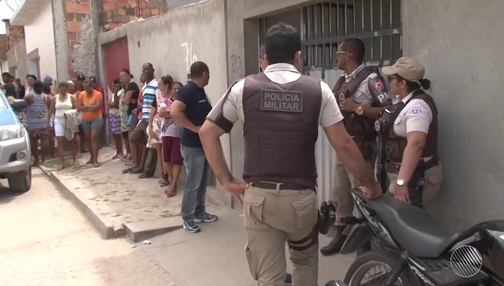 Crime aconteceu no bairro Gabriela II, em Feira de Santana (Foto: Reprodução/TV Subaé)
