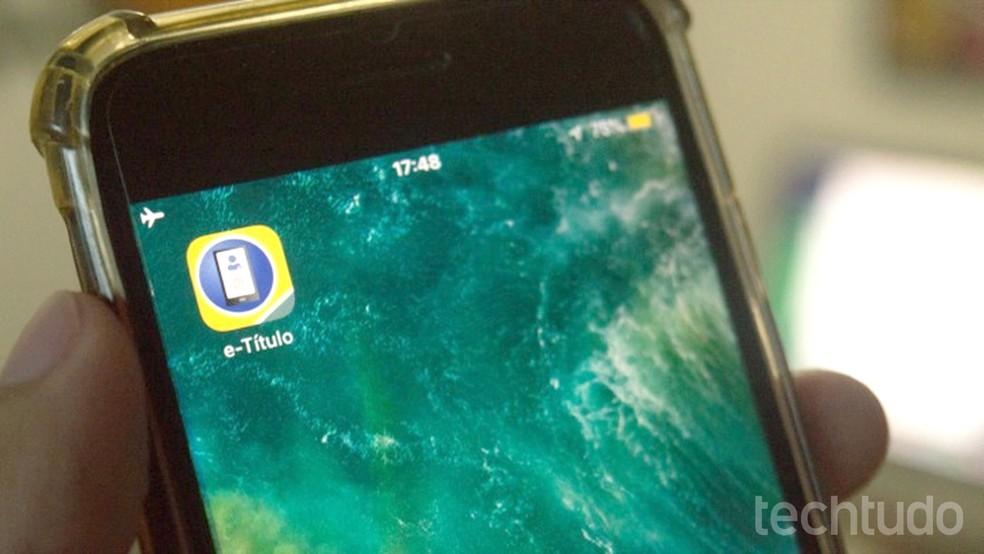 Versão digital e-Titulo pode substituir o documento físico nas votações — Foto: Marvin Costa/TechTudo