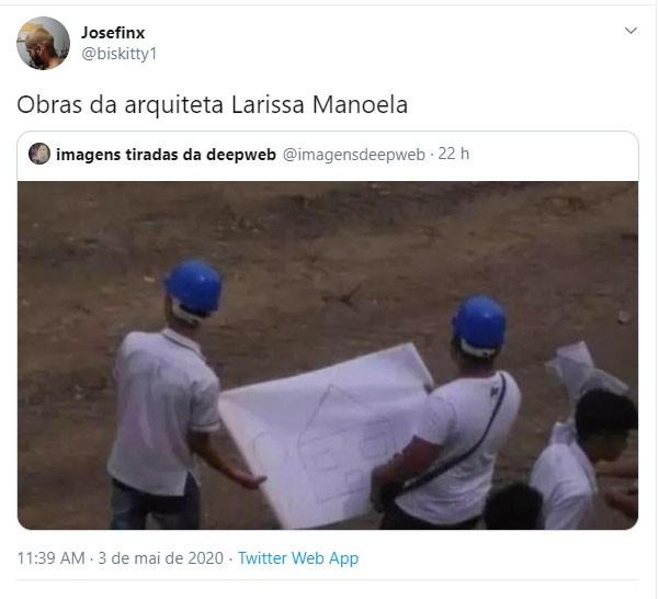 Larissa Manoela mostra lado arquiteta e decoradora e web reage (Foto: Reprodução/Twitter)