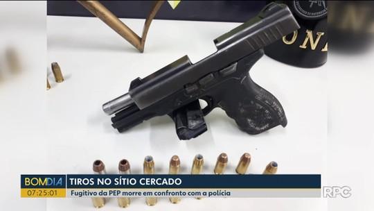 Fugitivo da Penitenciária de Piraquara morre ao trocar tiros com a polícia
