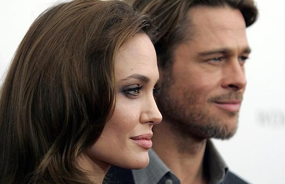 -  Angelina Jolie e Brad Pitt em foto de 2011  Foto: REUTERS/Carlo Allegri