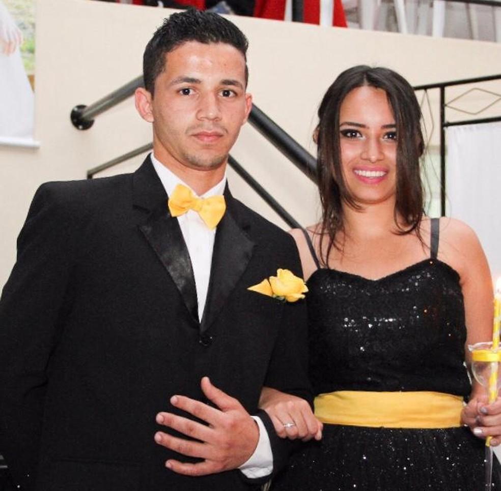 Jackson Silva dos Santos e Geovanna Crislaine Soares da Silva namoraram durante três anos — Foto: Arquivo pessoal