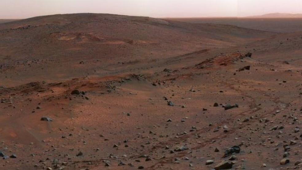 Marte é um planeta de condições extremas: as temperaturas vão de -80°C a 20°C (Foto: Nasa)