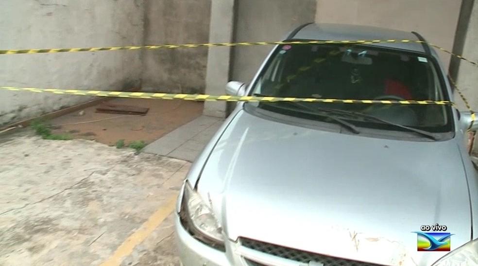 Polícia vai realizar esta semana uma perícia no carro do motorista morto que foi atingido por três tiros — Foto: Reprodução/TV Mirante
