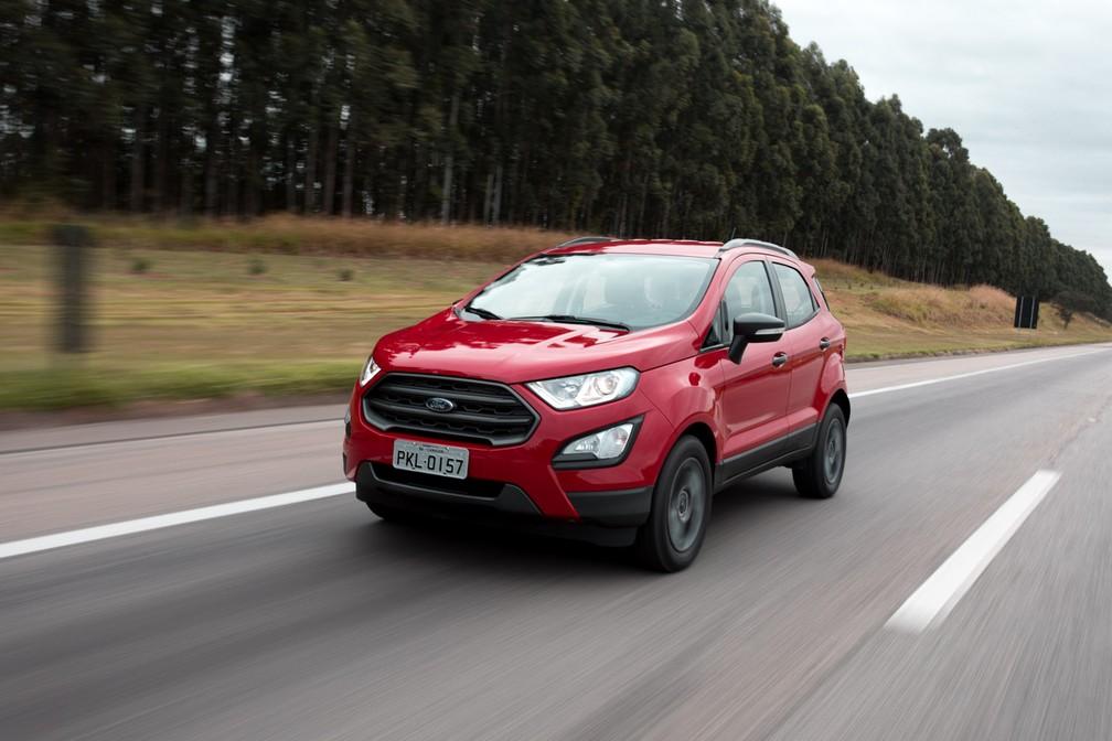 Ford EcoSport perdeu airbags em diversas versões na linha 2019 (Foto: Marcelo Brandt / G1)