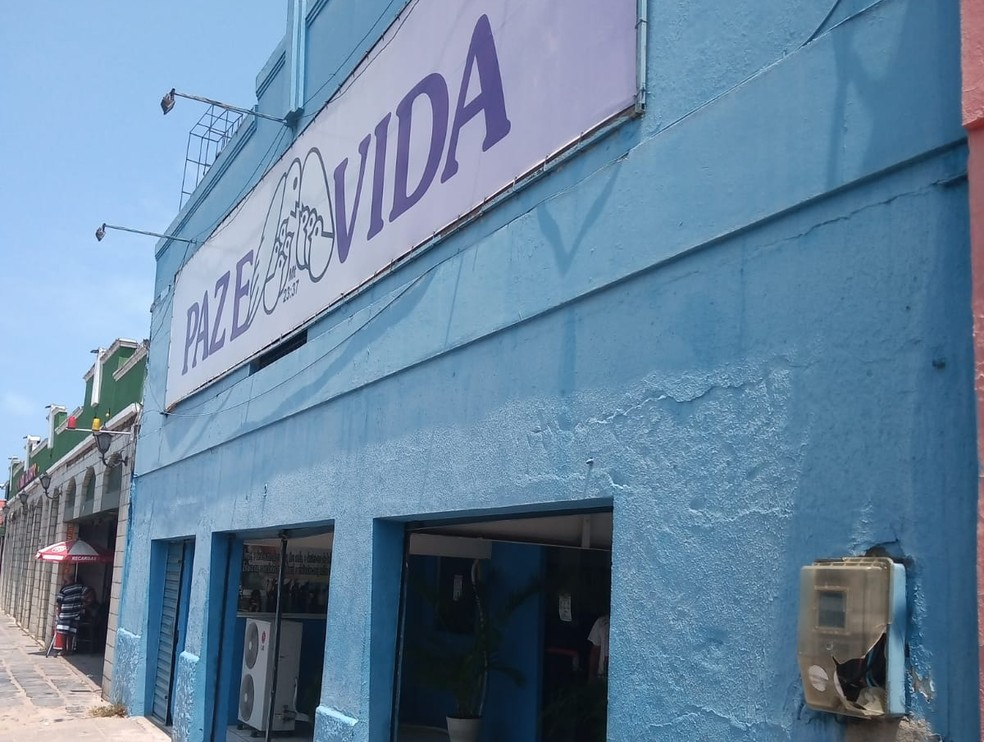 Contador de energia da igreja Paz e Vida, em Olinda, foi quebrado por homem, preso em flagrante— Foto: Secretaria de Segurança Urbana/Divulgação